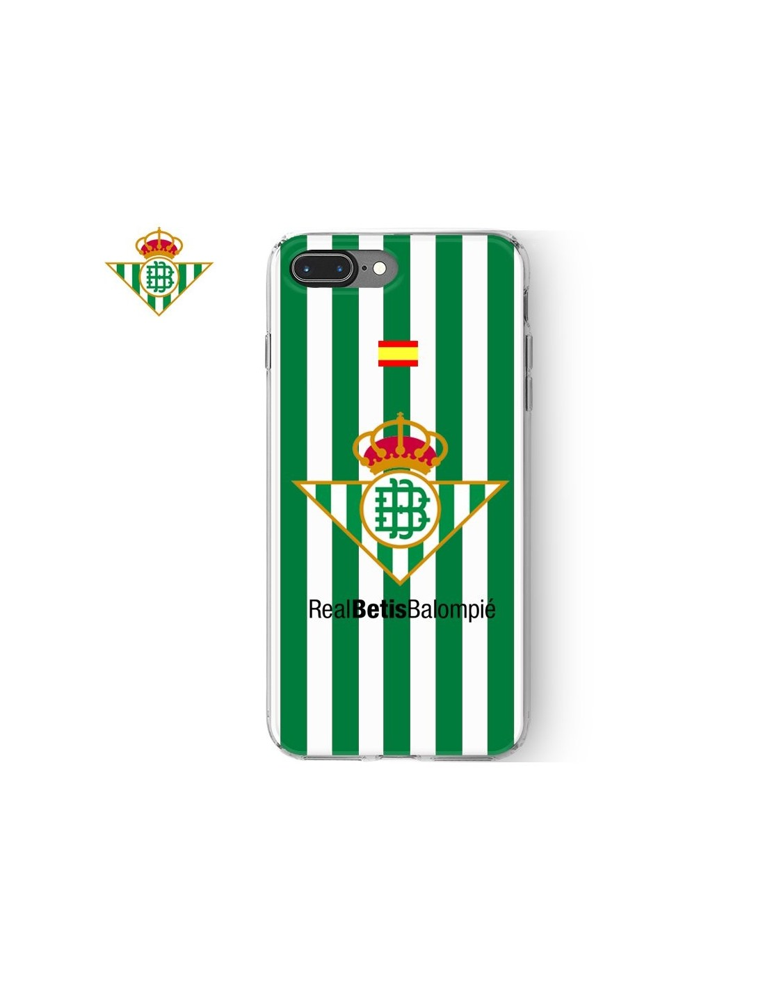 3e0d4eb186e Carcasa TPU iPhone 7 Plus / iPhone 8 Plus licencia Fútbol Real Betis