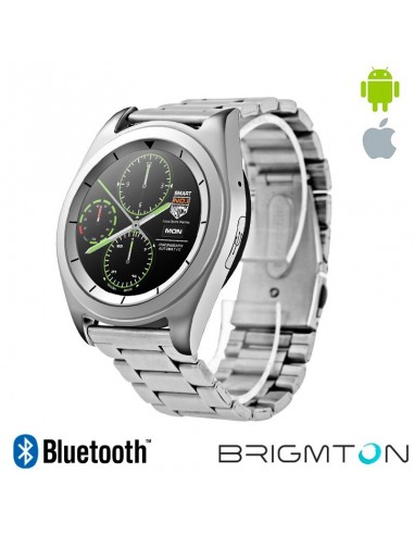 "Smartwatch Brigmton BT6 IPS 1.2"" Bluetooth Plata"