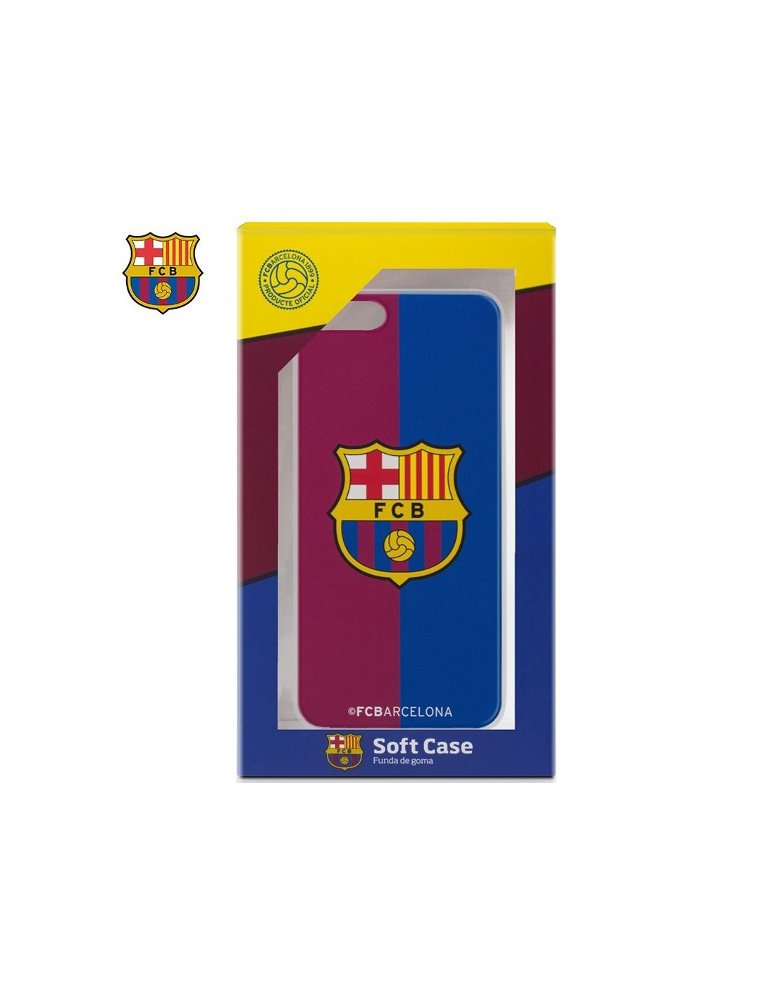 9157c8bf11c Carcasa TPU iPhone 7 Plus / iPhone 8 Plus Licencia Fútbol F.C. Barcelona  Blaugrana