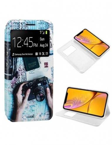 Funda libro soporte TPU iPhone XR diseño Travel