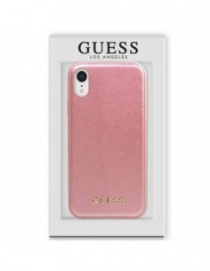 Carcasa iPhone XR licencia Guess Piel rosa