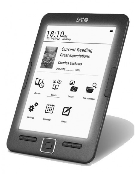 "EBook libro electrónico SPC Dickens Light 6"" 8GB negro (Black)"