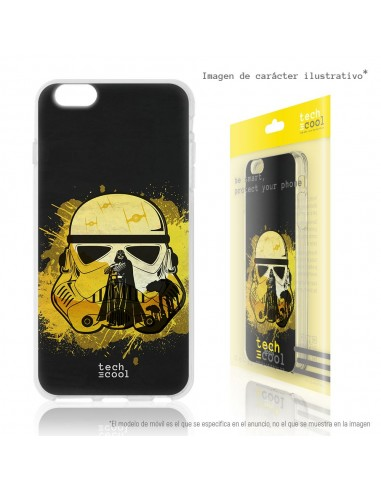 Carcasa gel TPU flexible personalizada diseño Casco Interestelar Imperio Lado Oscuro Vader