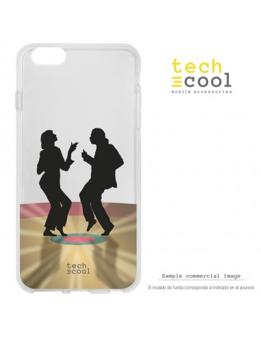 Carcasa gel TPU flexible transparente personalizada diseño Baile Pulp Fiction