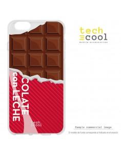 Carcasa gel TPU flexible transparente personalizada diseño Tableta chocolate roja
