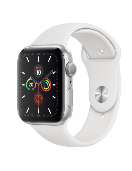 Reloj SmartWatch Apple Watch Series 5 caja aluminio 44mm correa deportiva blanco plata (Silver)